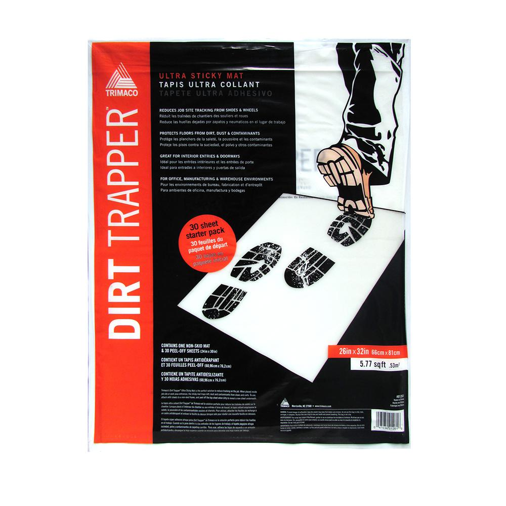 TRIMACO 32 in. x 26 in. Dirt Trapper Sticky Non-Skid Frame 30 Layer Mat