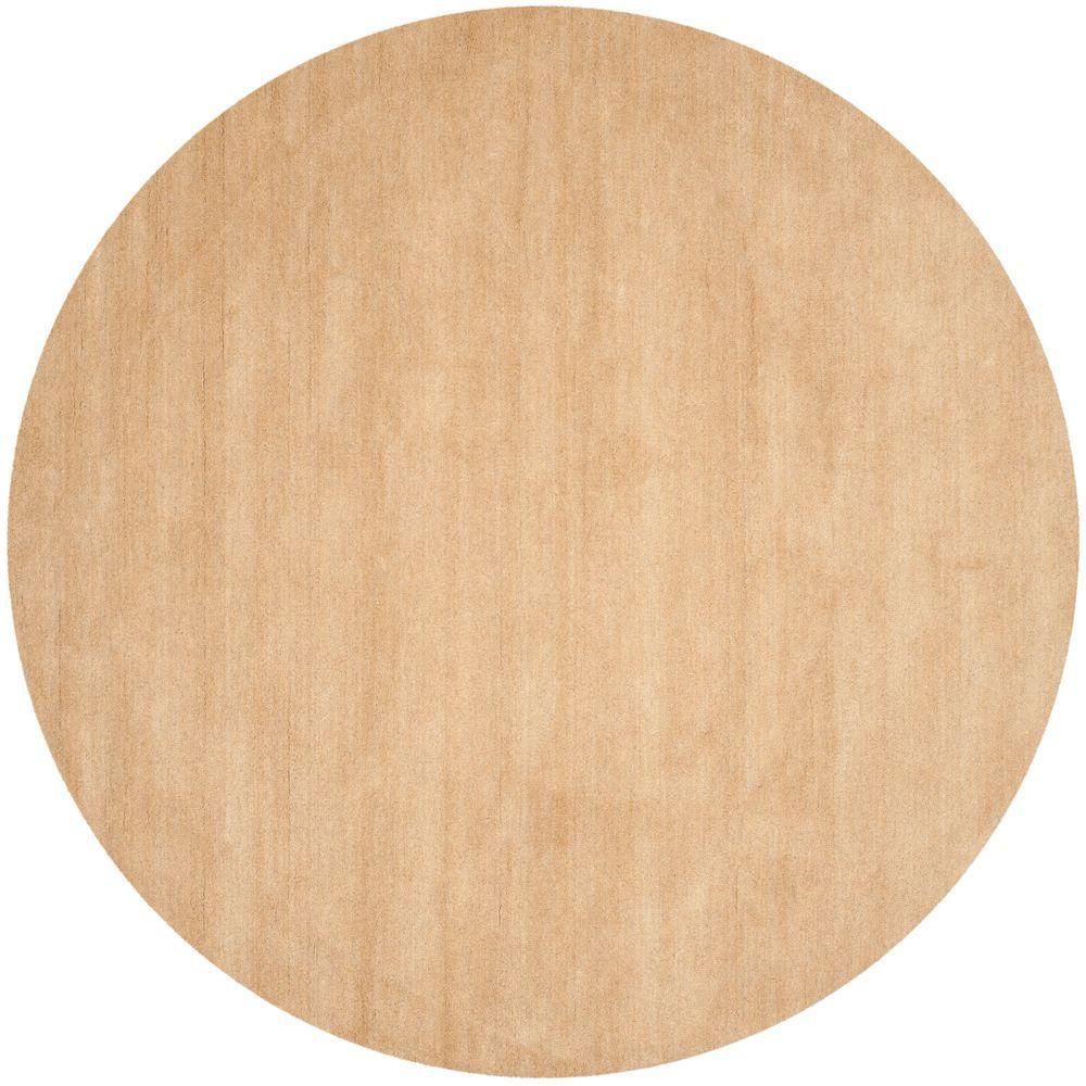 safavieh himalaya beige 10 ft x 10 ft round area rug him610e 10r the home depot. Black Bedroom Furniture Sets. Home Design Ideas