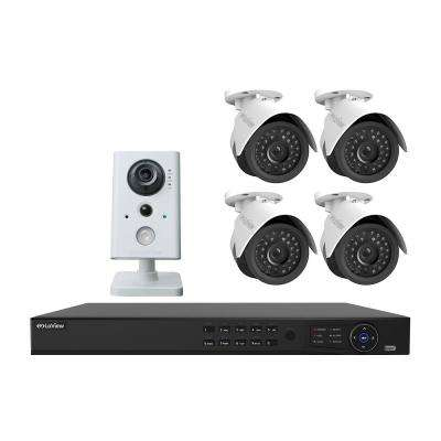 8-Channel Full HD IP Indoor/Outdoor Surveillance 2TB NVR System (4) Bullet 1080P Cameras (1) Wireless Indoor IP Camera