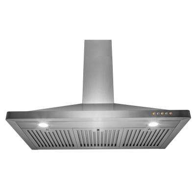 36 in 350 CFM Convertible Wall Mount Range Hood with LEDs in Stainless Steel
