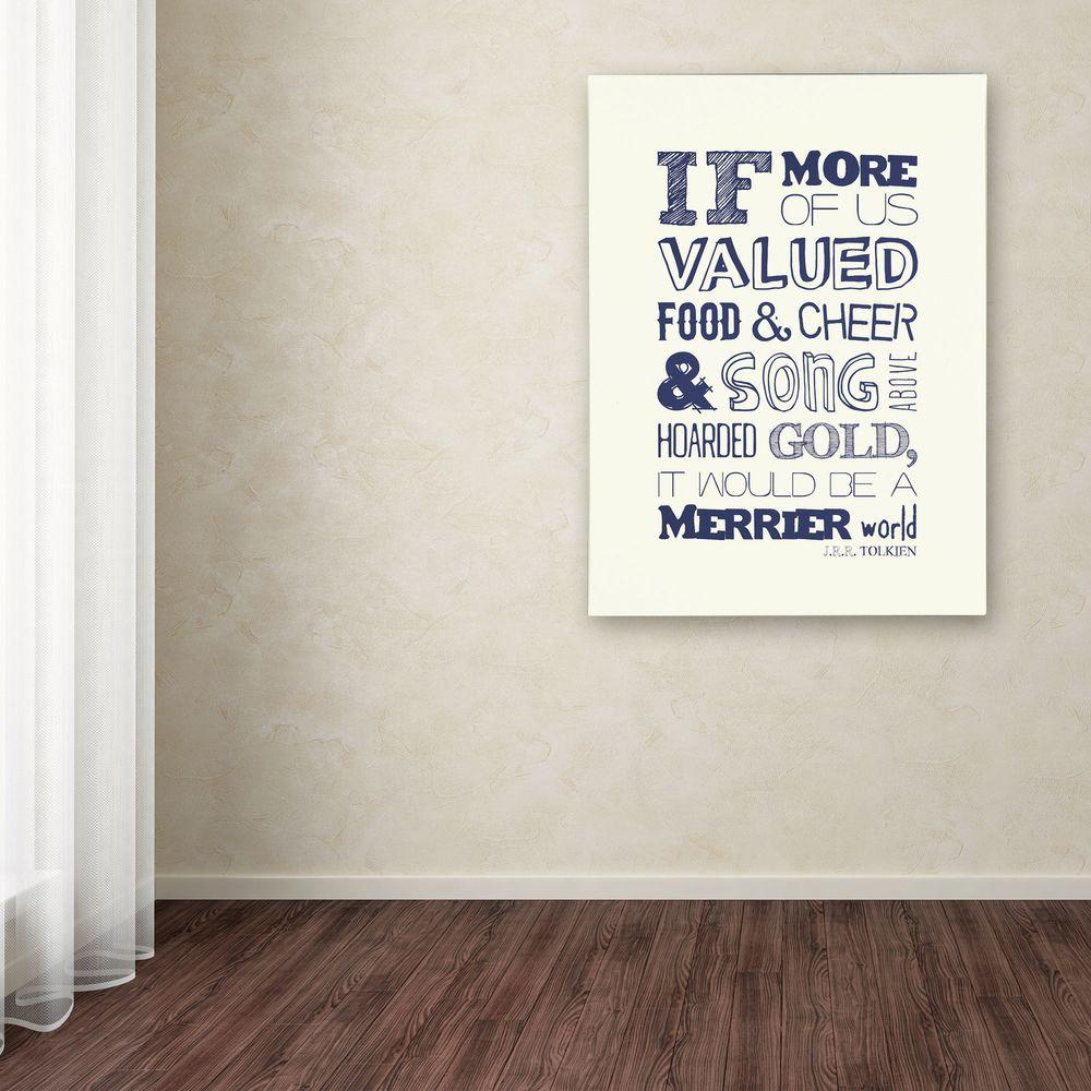 Trademark Fine Art 47 in. x 35 in. Good and Cheer I Canvas Art
