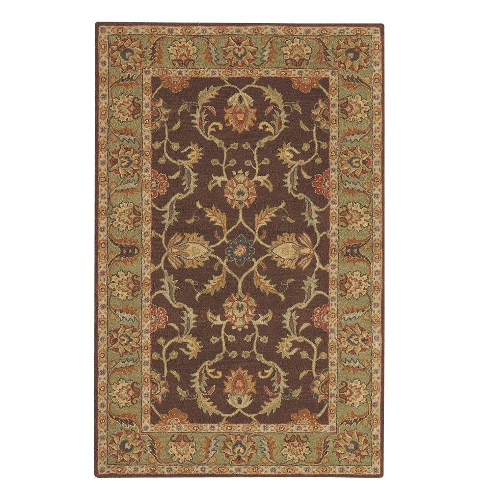Home Decorators Collection Aristocrat Brown 2 Ft 6 In X 8 Ft Runner 0167590820 The Home Depot