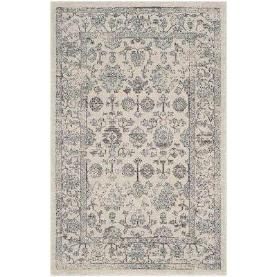 Carmel Beige/Blue 3 ft. x 5 ft. Area Rug