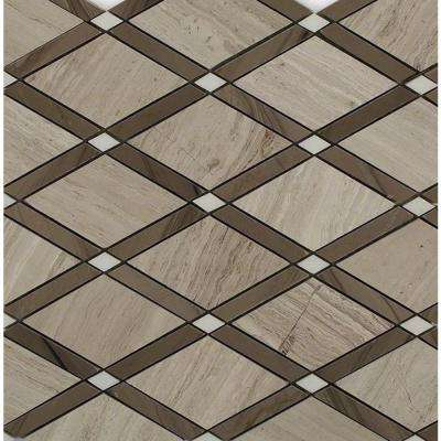 Grand Athens Gray Polished Marble Tile - 3 in. x 6 in. Tile Sample