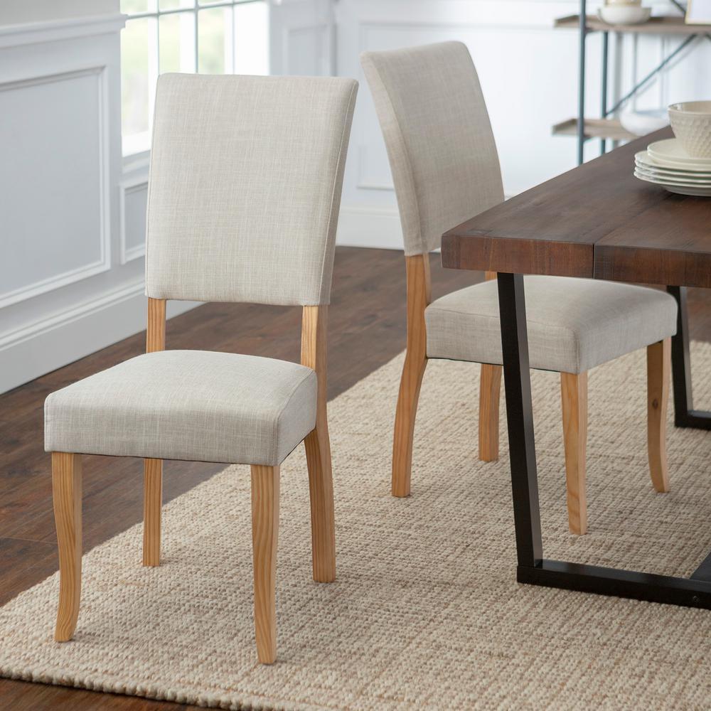 Walker Edison Furniture Company Open Back Ivory Parsons