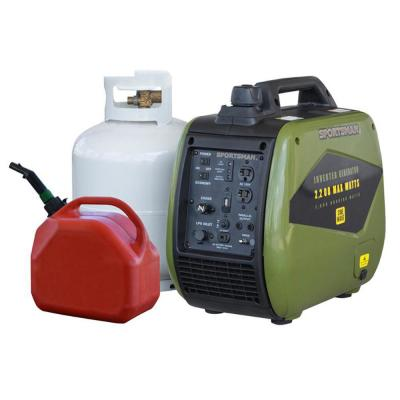 2,200-Watt Recoil Start Dual Fuel LPG/Gasoline Powered Portable Inverter Generator w/Parallel Connection, CARB Approved