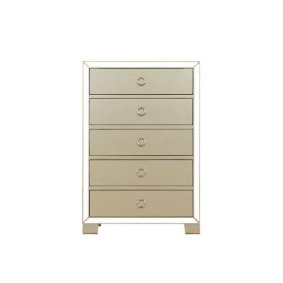 Voeville II Champagne Chest of Drawers