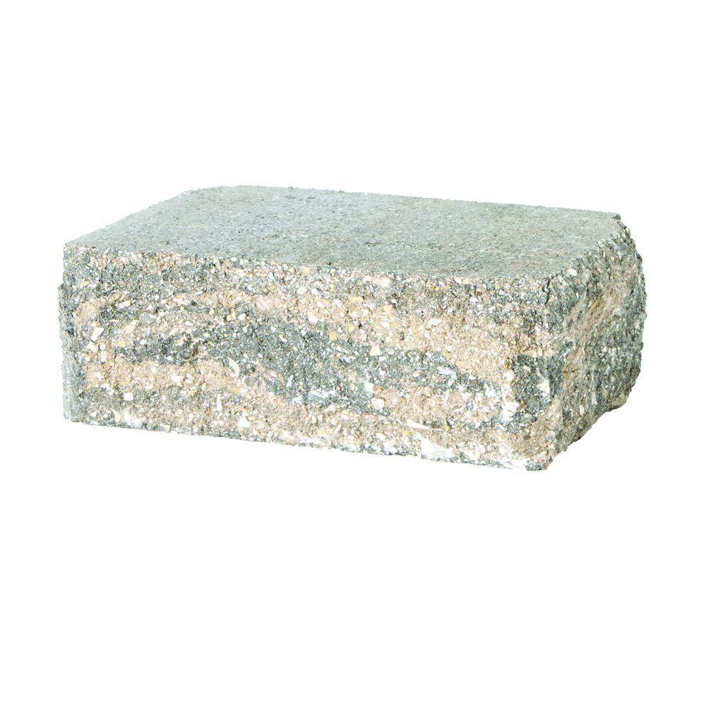 SplitRock Corner 3.5 in. x 10.5 in. x 7 in. Charcoal/Tan Concrete Garden Wall Block (96 Pcs. / 40.8 Face ft. / Pallet)