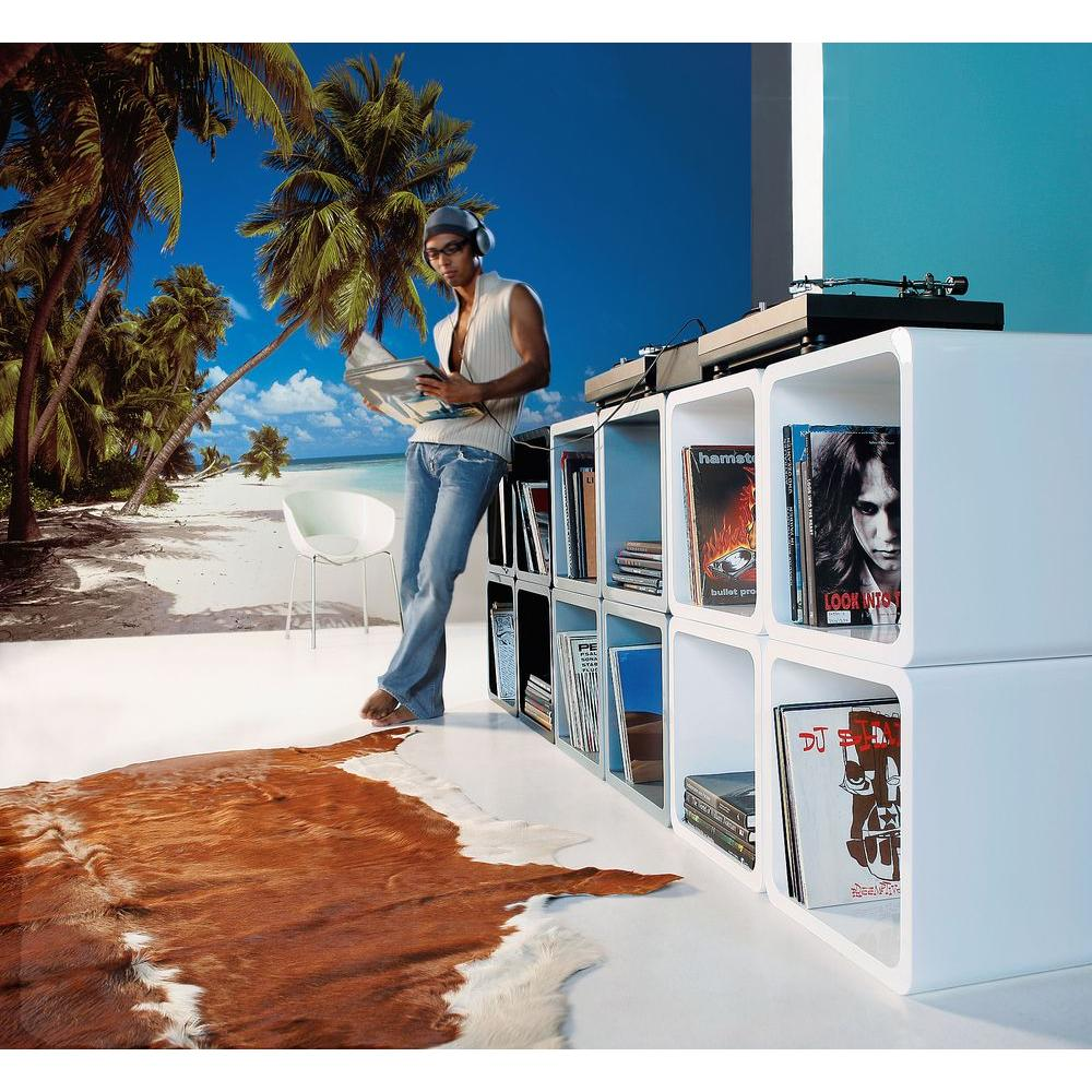Komar 106 in. x 153 in. Maldives Beach Scence Wall Mural,...