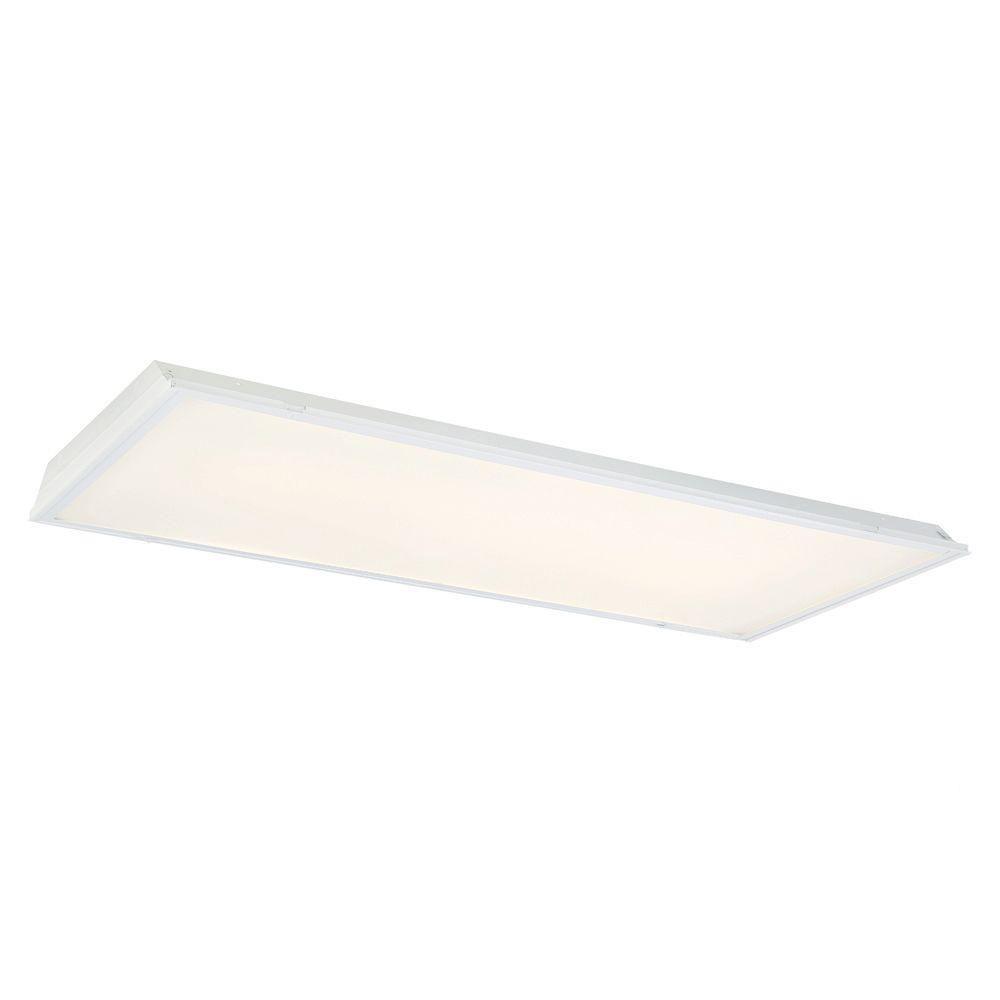 EnviroLite 2 ft. x 4 ft. White LED Backlit Lens Commercial Ceiling Troffer (24-Pack)