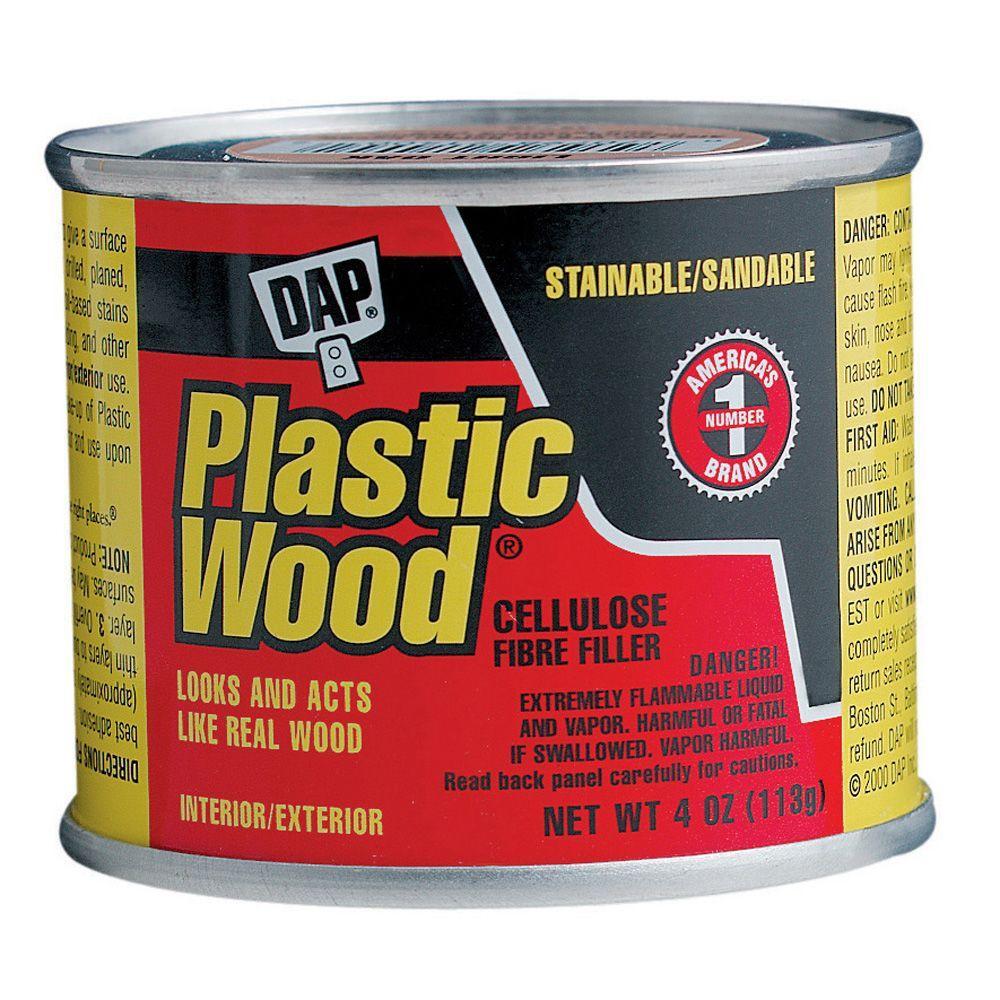 Dap Plastic Wood 4 Oz Light Oak Solvent Wood Filler 21400 The Home Depot