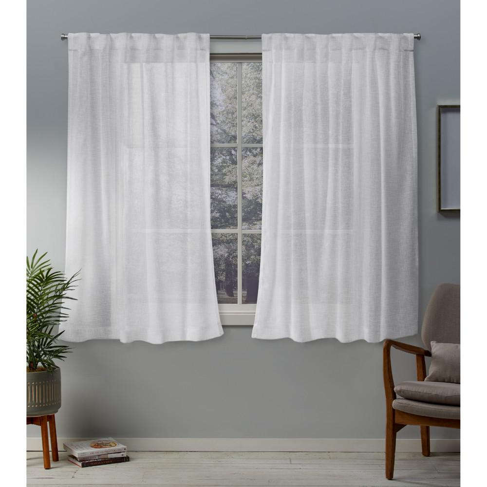 Exclusive Home Curtains Belgian 50 In. W X 63 In. L Sheer