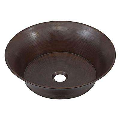 Copernicus Handmade Pure Solid Copper Vessel Sink in Aged Copper