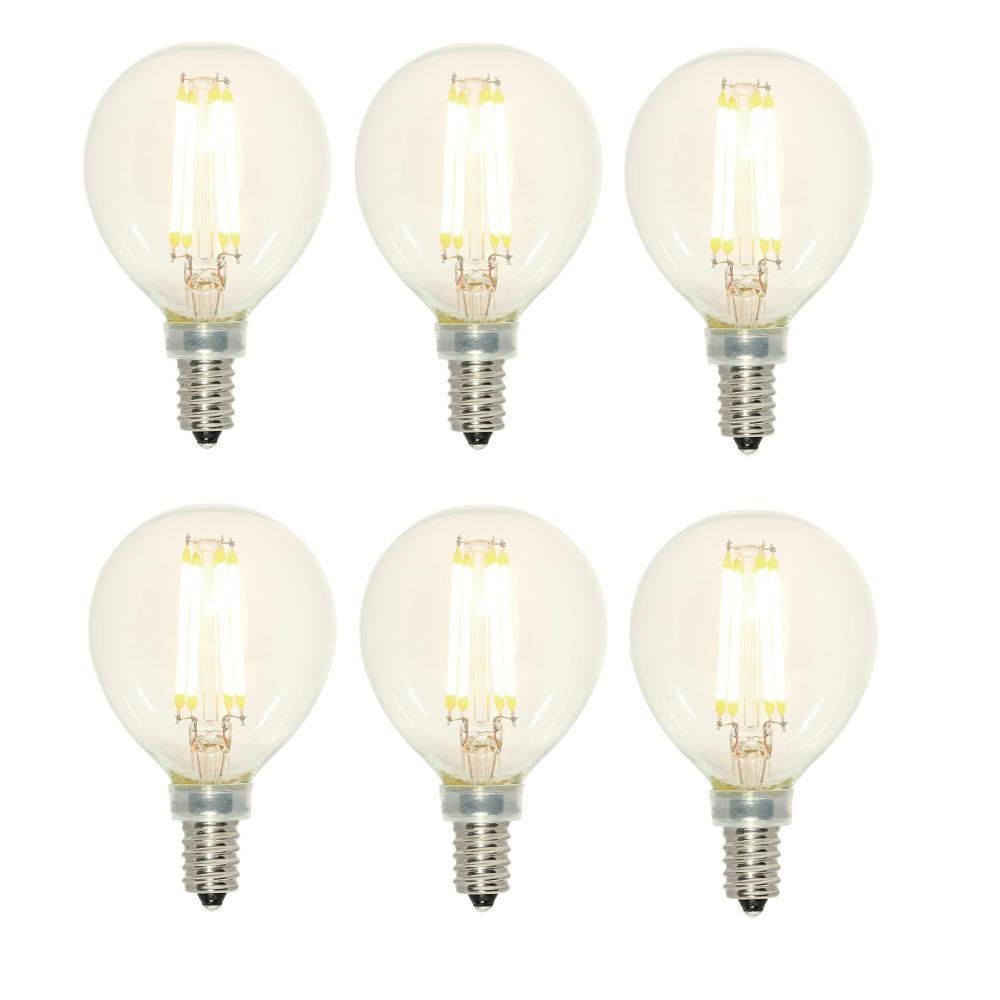 40-Watt Equivalent G16-1/2 Dimmable 2700K Filament LED Light Bulb (6-Pack)