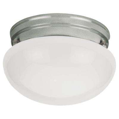 Webster 1-Light Brushed Nickel Flush Mount