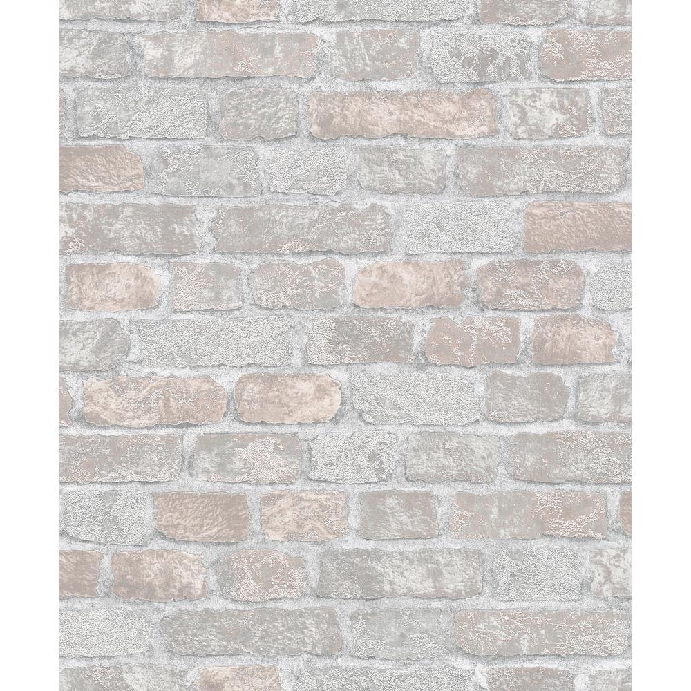 56.4 sq. ft. Granulat Grey Stone Wallpaper