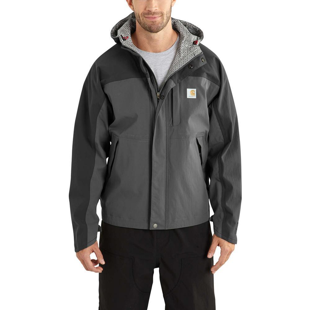 8814c7fc258a3 Carhartt Men's Small Charcoal/Shadow Nylon Shoreline Vapor Jacket ...
