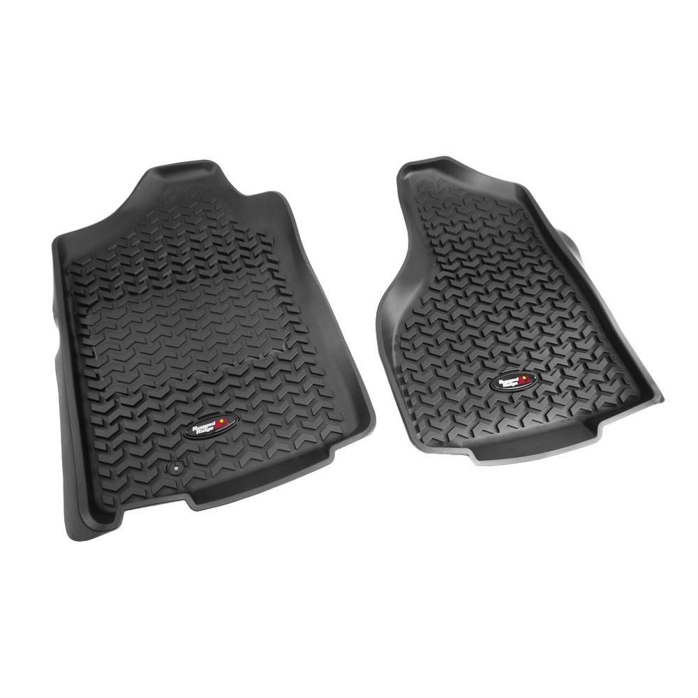 Floor Liner Front Pair Black 2002-2011 Ram 1500-3500 Reg 1 Hook