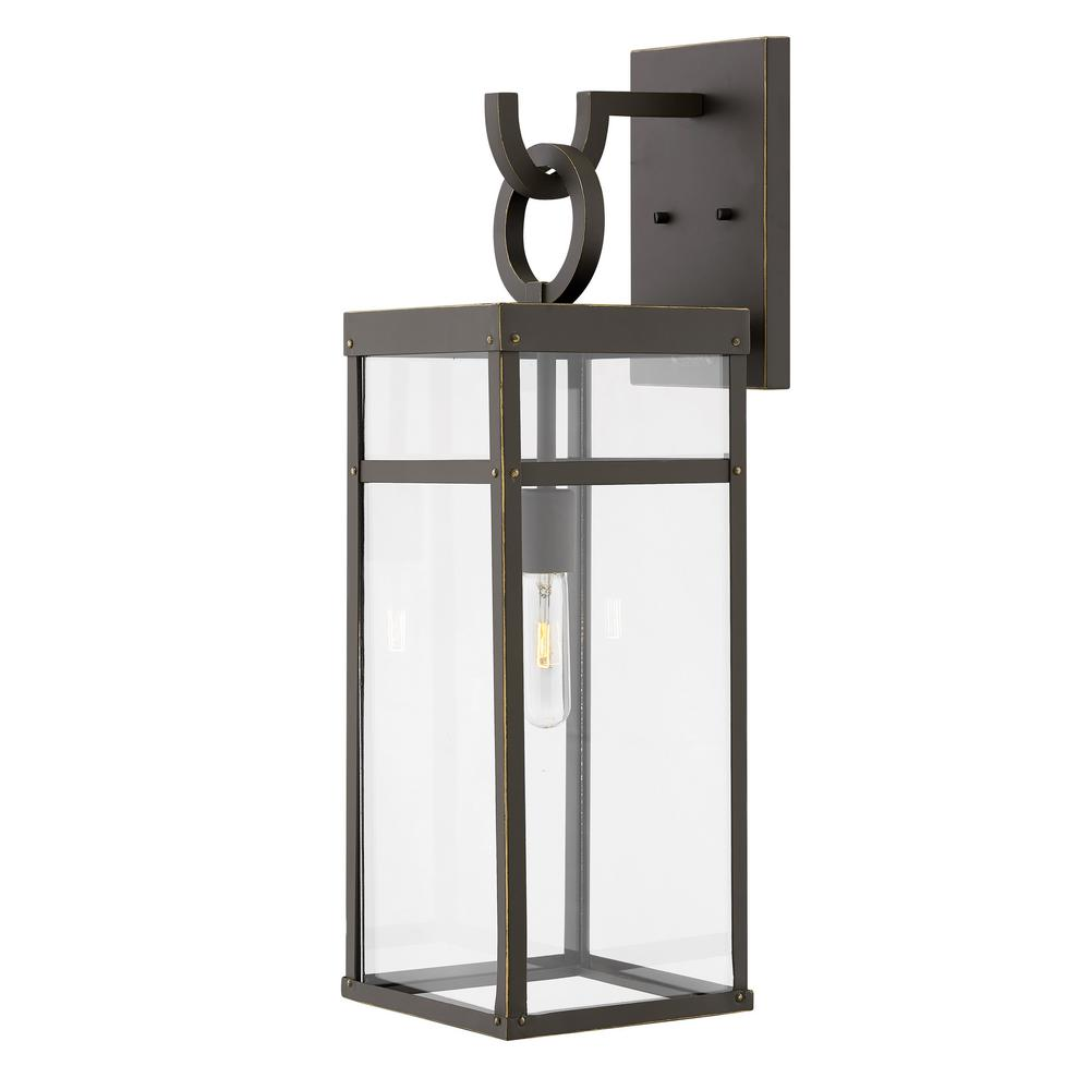 finest selection 6cab2 db6a1 Hinkley Lighting Porter Large Oil Rubbed Bronze 1-Light Outdoor Wall  Lantern Sconce