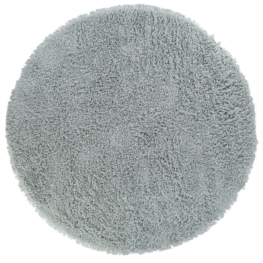 Home Decorators Collection Ultimate Shag Ocean Blue 8 ft. Round Area Rug