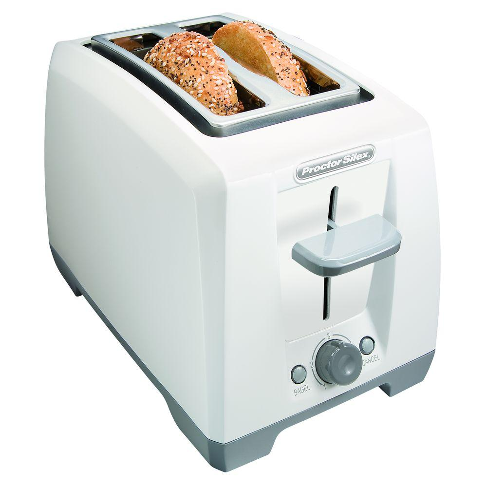 Proctor Silex 2-Slice Bagel Toaster in White-DISCONTINUED