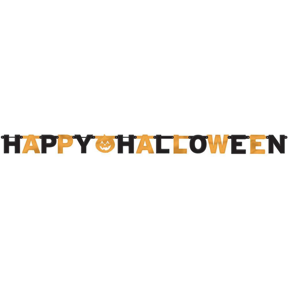 6.25 in. x 7.75 ft. Halloween Foil Letter Banner (3-Pack)