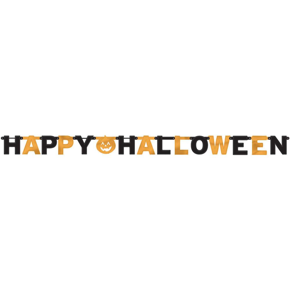Amscan 6.25 in. x 7.75 ft. Halloween Foil Letter Banner (3-Pack)