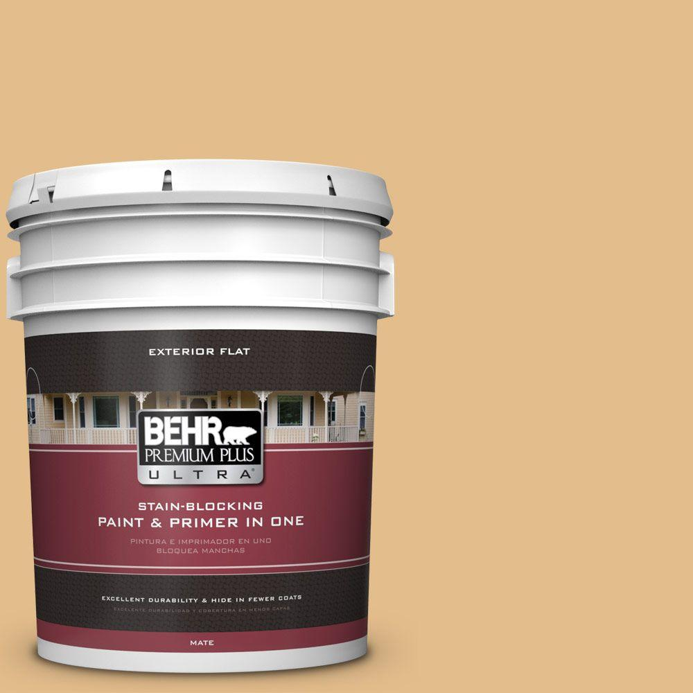 BEHR Premium Plus Ultra 5-gal. #330D-4 Warm Muffin Flat Exterior Paint