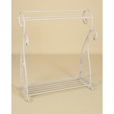 Whitewash Scrolled Quilt Rack