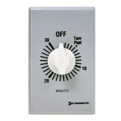 20 Amp 30-Minute Indoor In-Wall Spring Wound Timer, Gray