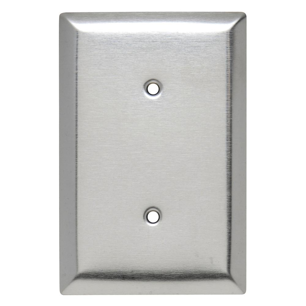 302 Series 1-Gang Jumbo Blank Wall Plate, Stainless Steel