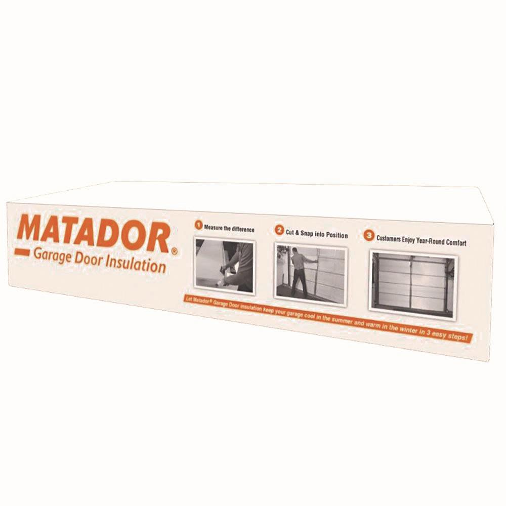 Matador 7 Ft H X 8 Ft 9 Ft W Eps Foam Garage Door Kit 8 Panel