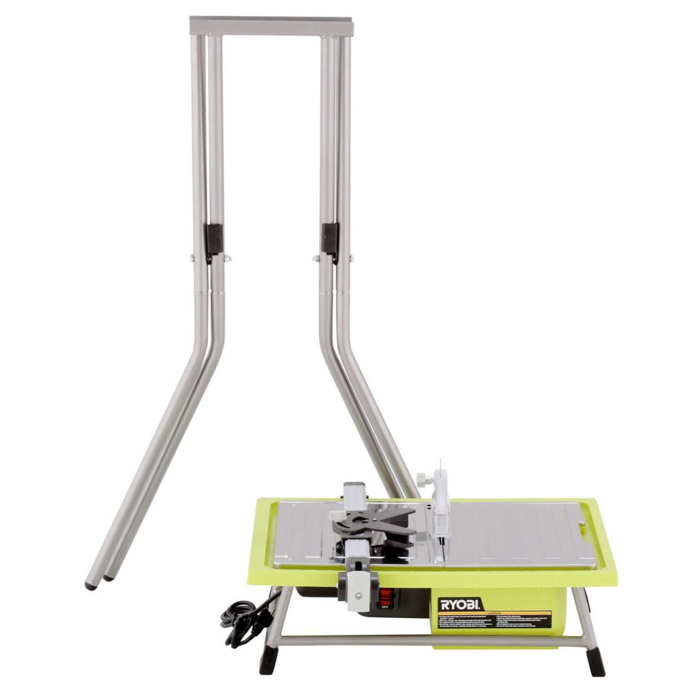 RYOBI 7 in. 4.8 Amp Tile Saw with Stand
