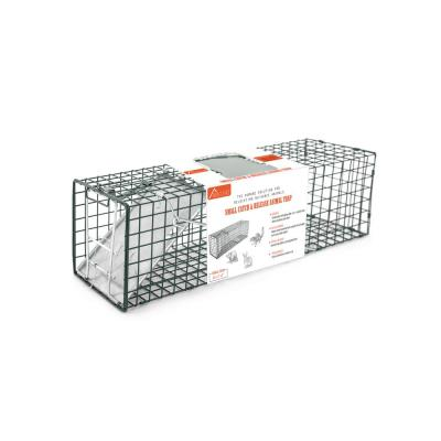 Small 1-Door Professional Humane Steel Live Animal Cage Trap (Squirrels, Rabbits, Chipmunks, Skunks, Rats, and Weasels)
