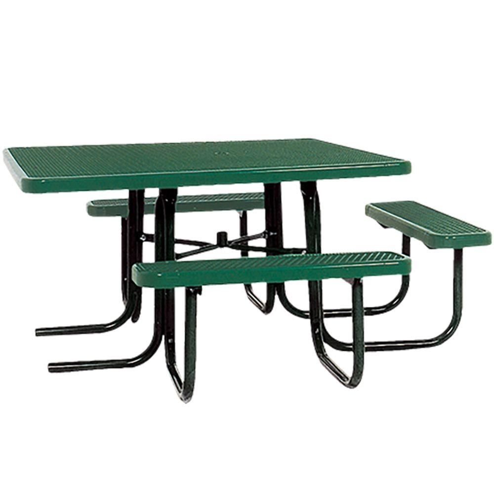 Portable Green Diamond Commercial ADA Square Picnic Table