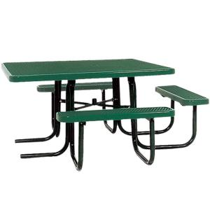 Portable Green Diamond Commercial ADA Square Picnic Table by