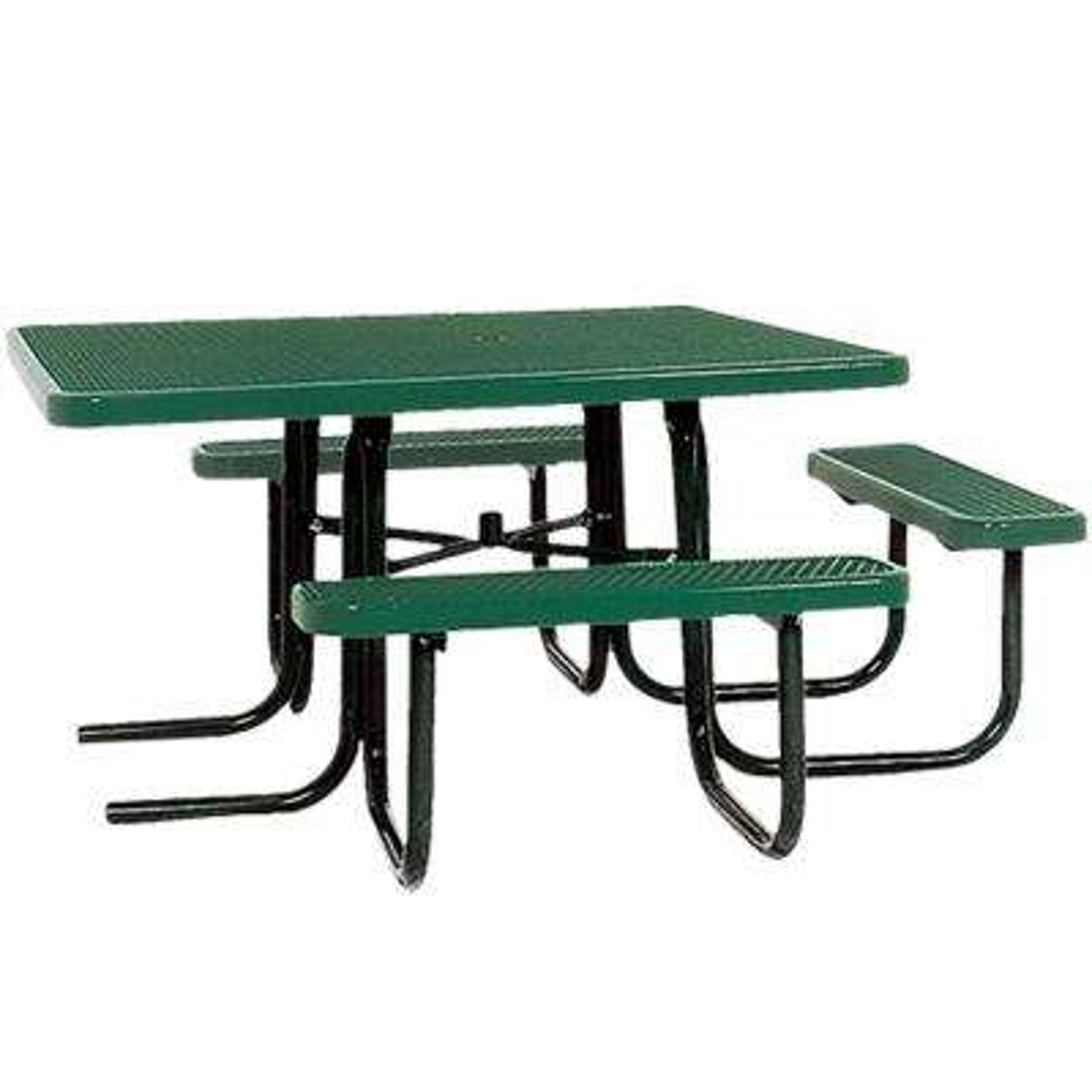 Portable Green Diamond Commercial ADA Square Picnic Table