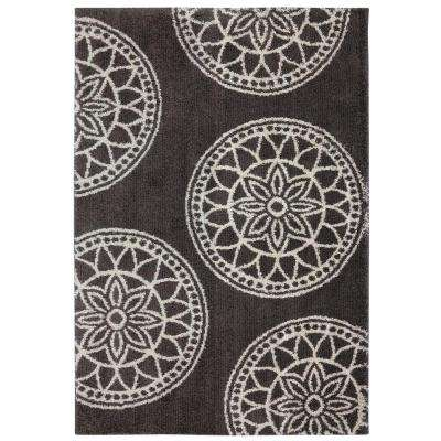 Gray Medallions Gray Woven 8 ft. x 10 ft. Area Rug
