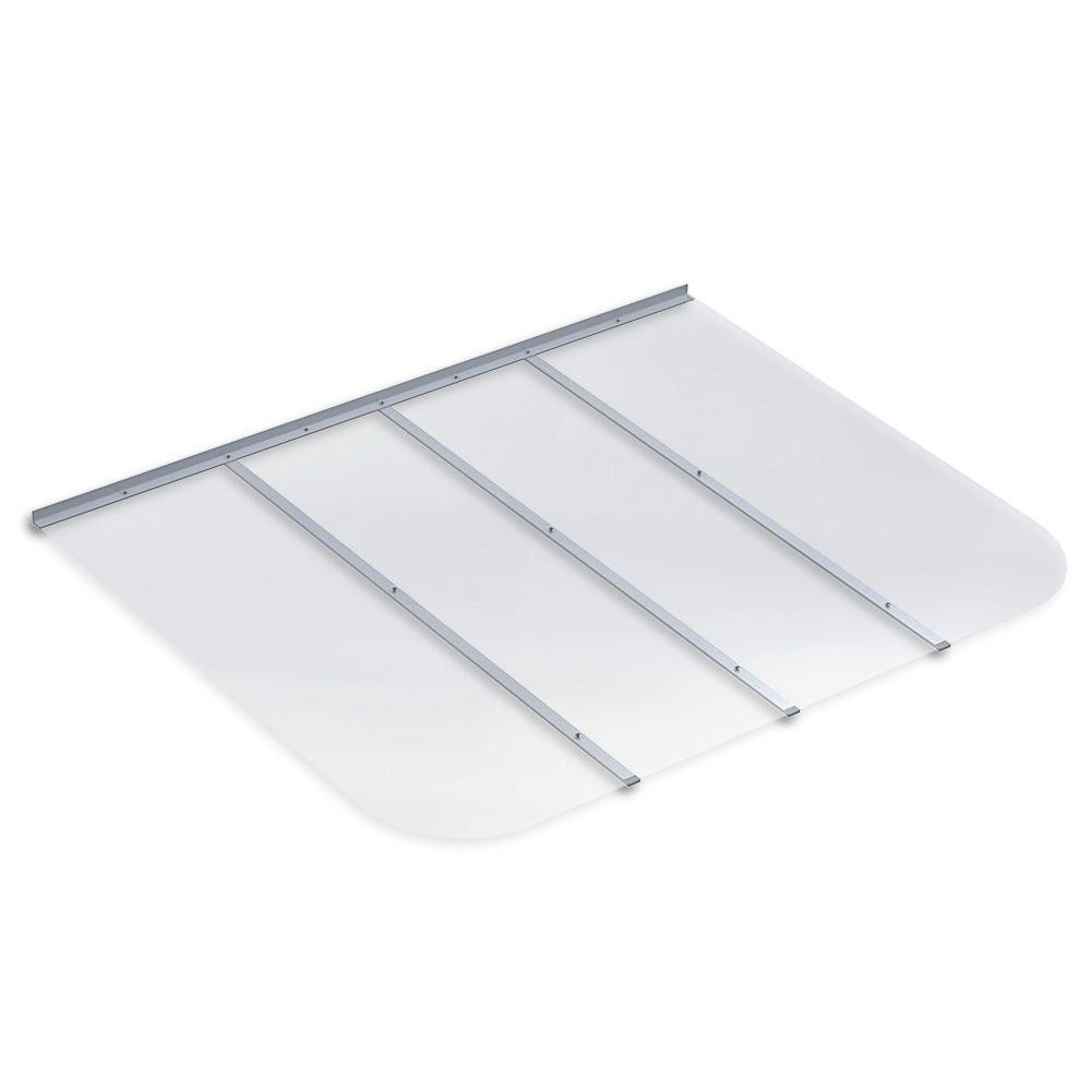 61 in. x 48 in. Rectangular Clear Polycarbonate Window Well Cover
