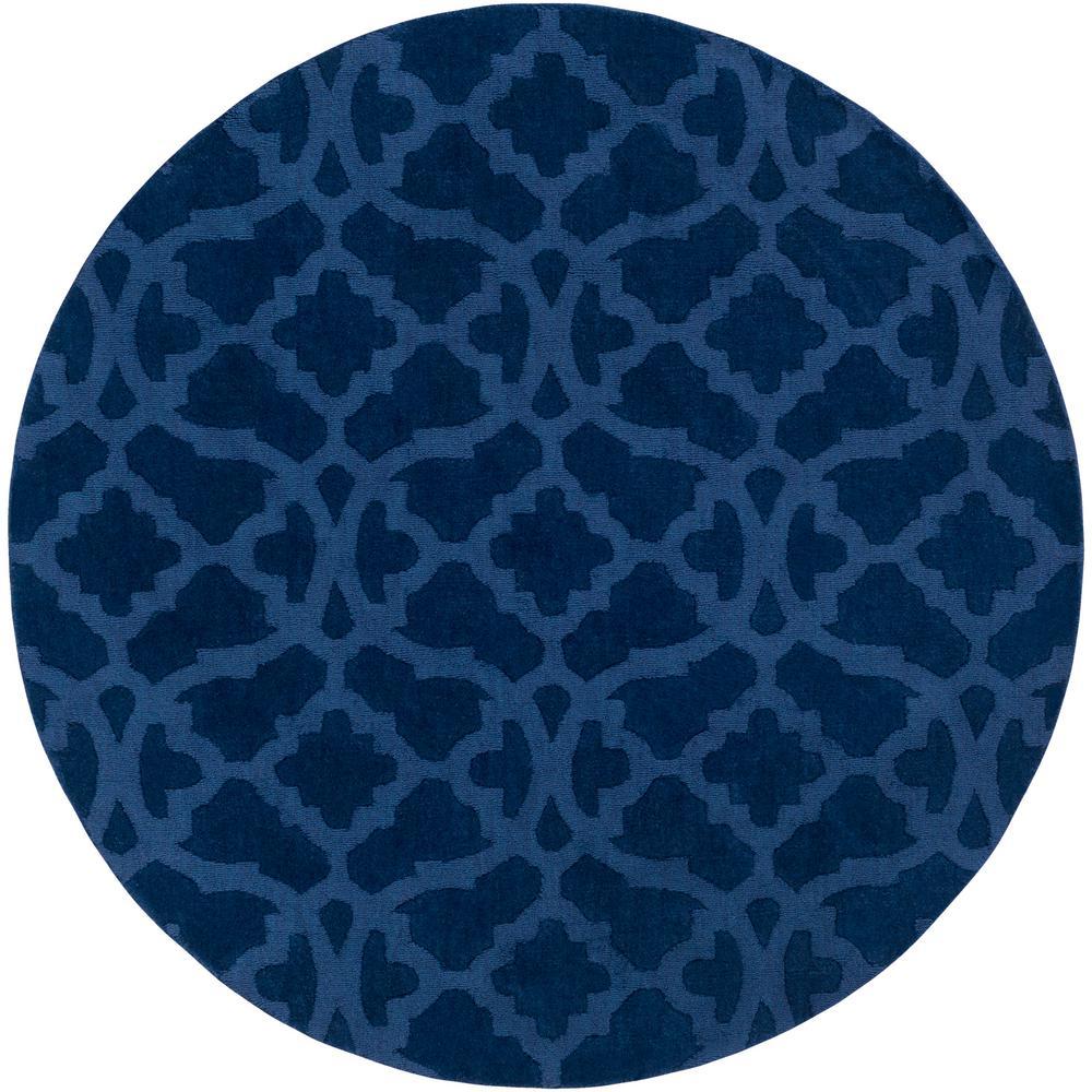Artistic Weavers Metro Kristen Navy Blue 9 ft. 9 inch x 9 ft. 9 inch Round Indoor Area Rug by
