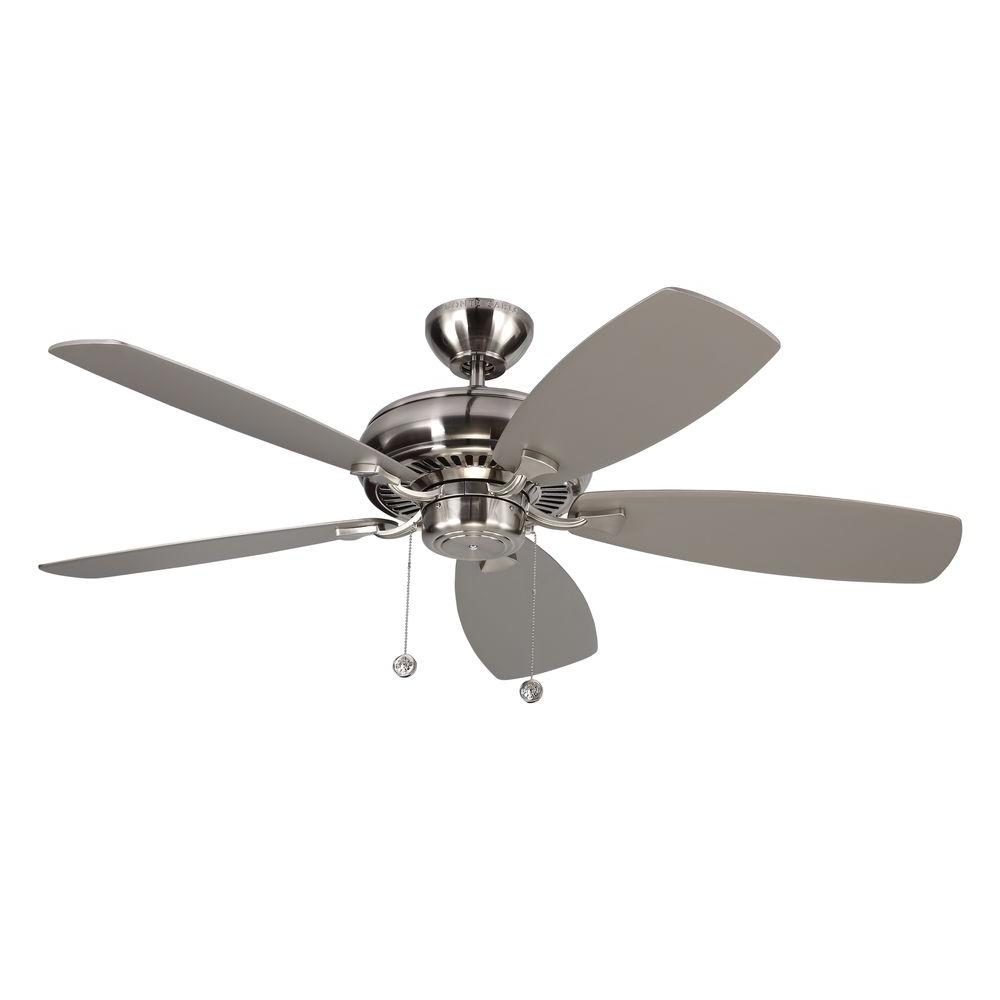 Monte Carlo Light Cast Max 52 In Indoor Brushed Steel Ceiling Fan
