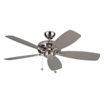 Light Cast Max 52 in. Indoor Brushed Steel Ceiling Fan