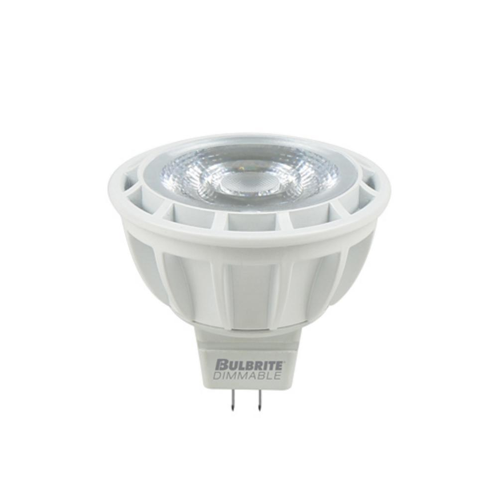 Bulbrite 75W Equivalent Warm White Light MR16 Dimmable LED Flood Enclosed Rated Light Bulb