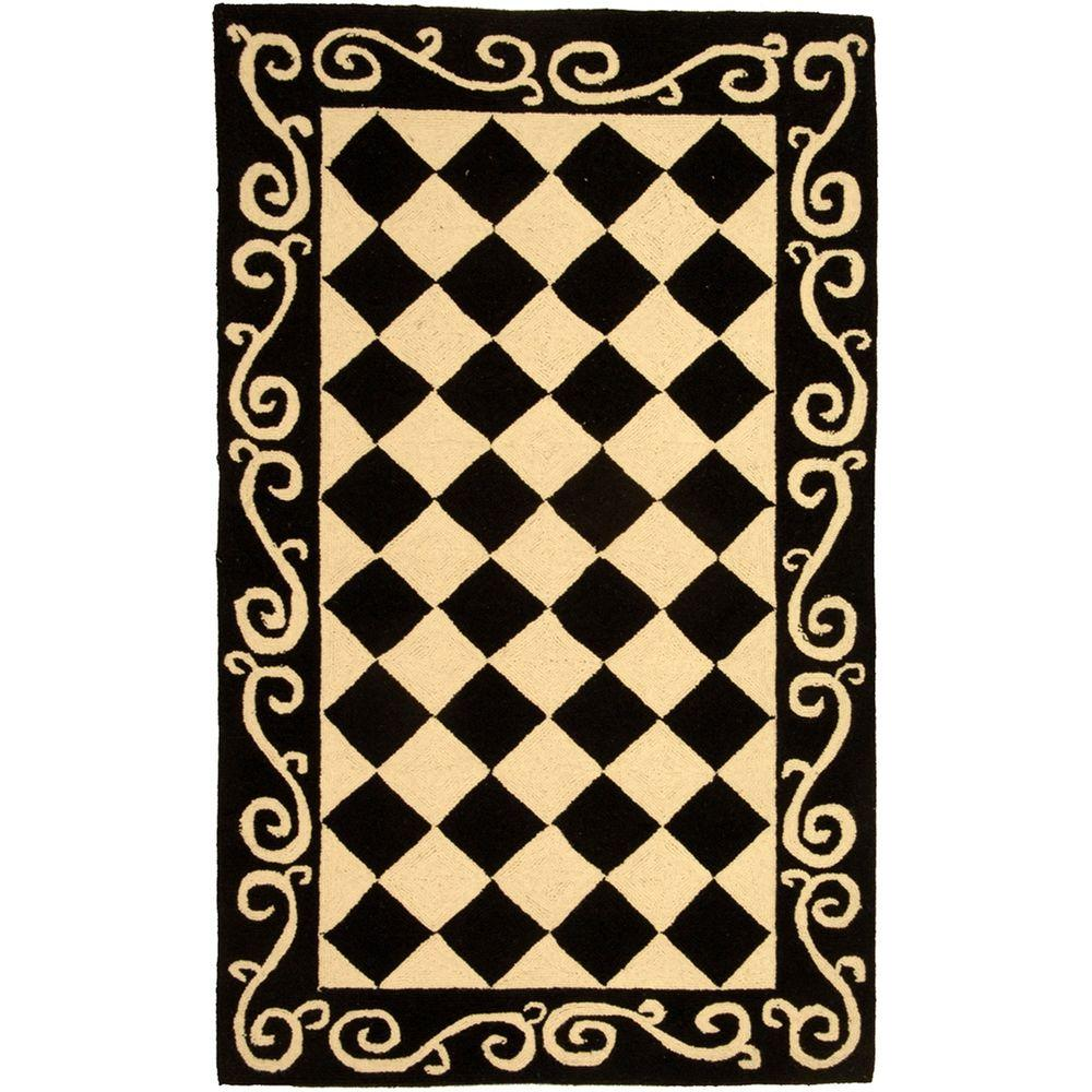 Chelsea Black/Ivory 2 ft. 9 in. x 4 ft. 9 in.