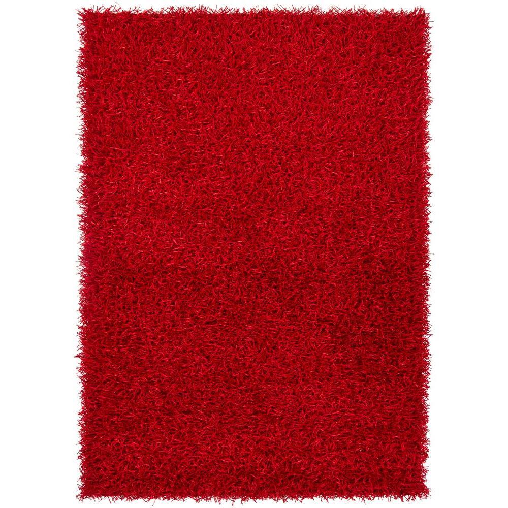 Chandra Zara Red 5 ft. x 7 ft. 6 in. Indoor Area Rug