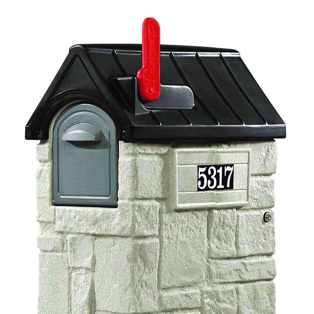 53-3/8 in. MailMaster StoreMore Plastic Mailbox