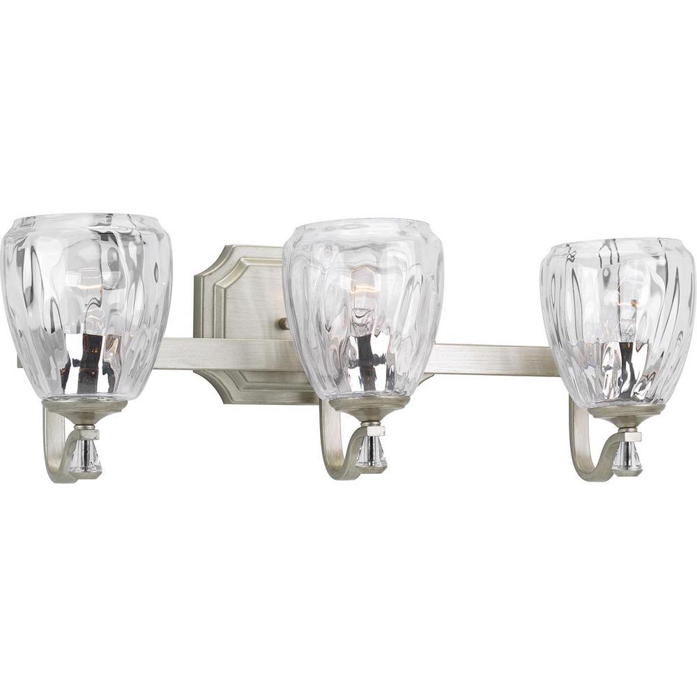 Anjoux Collection 3-Light Silver Ridge Bath Light