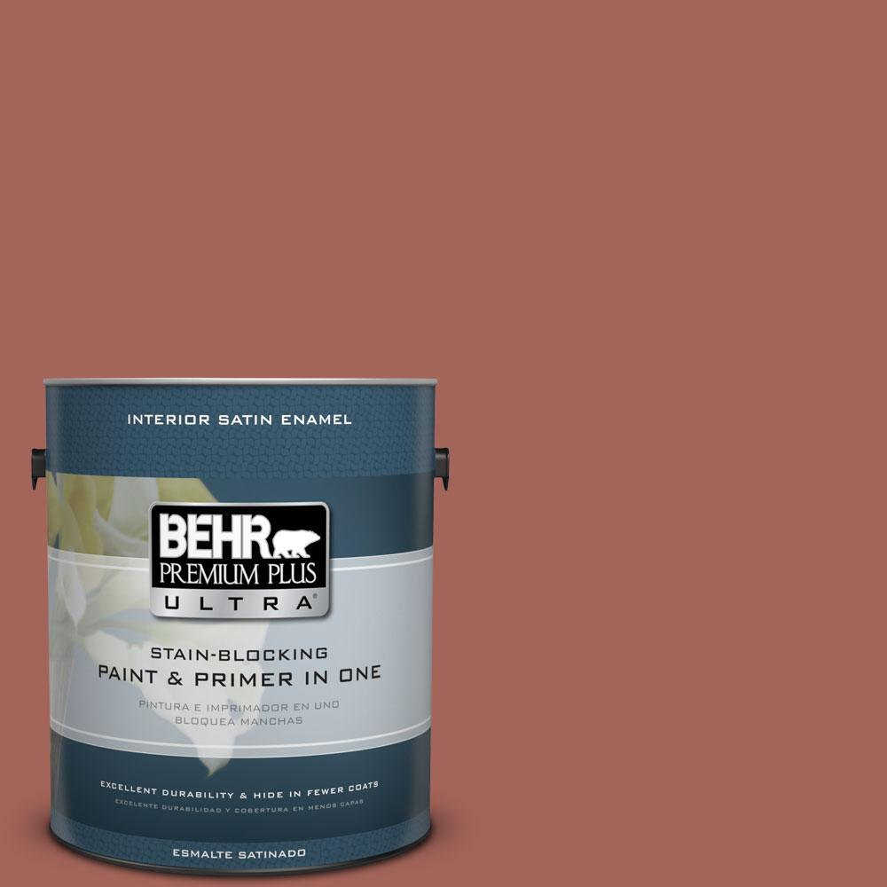 BEHR Premium Plus Ultra Home Decorators Collection 1-gal. #HDC-CL-08 Sun Baked Earth Satin Enamel Interior Paint
