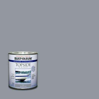 1 qt. Gloss Battleship Gray Topside Paint (4-Pack)