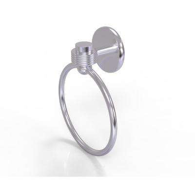 Satellite Orbit One Collection Towel Ring with Groovy Accent in Satin Chrome